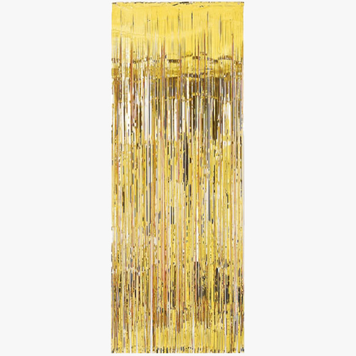 GOLD SHIMMER CURTAIN PARTY KITSCH