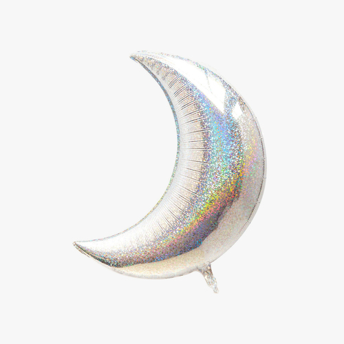 holographic moon balloon party kitsch