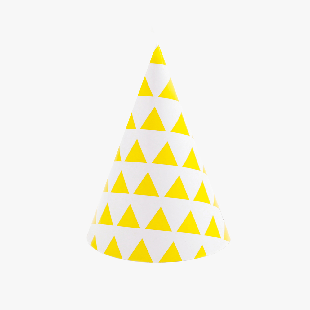 my little day yellow traingle party hats pk.jpg