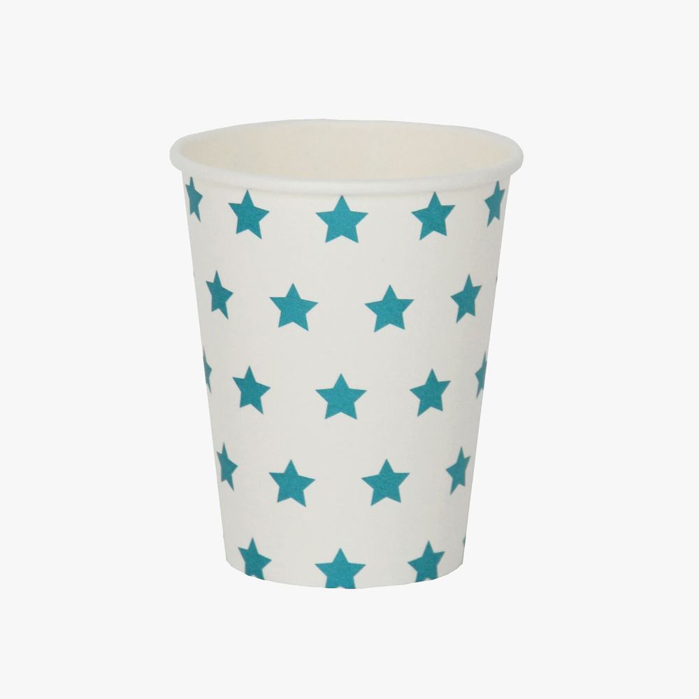 my little day blue star paper cup.jpg