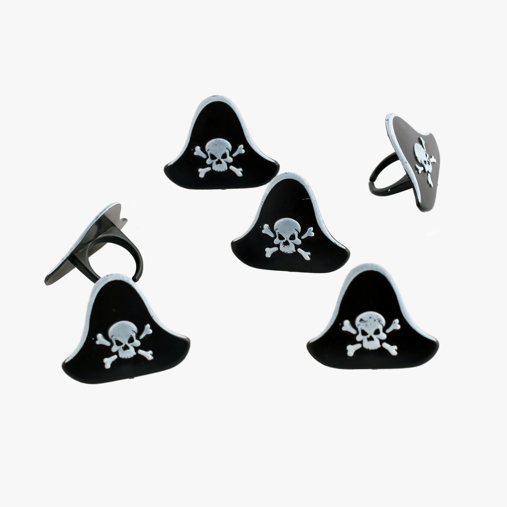 party kitsch pirate hat rings