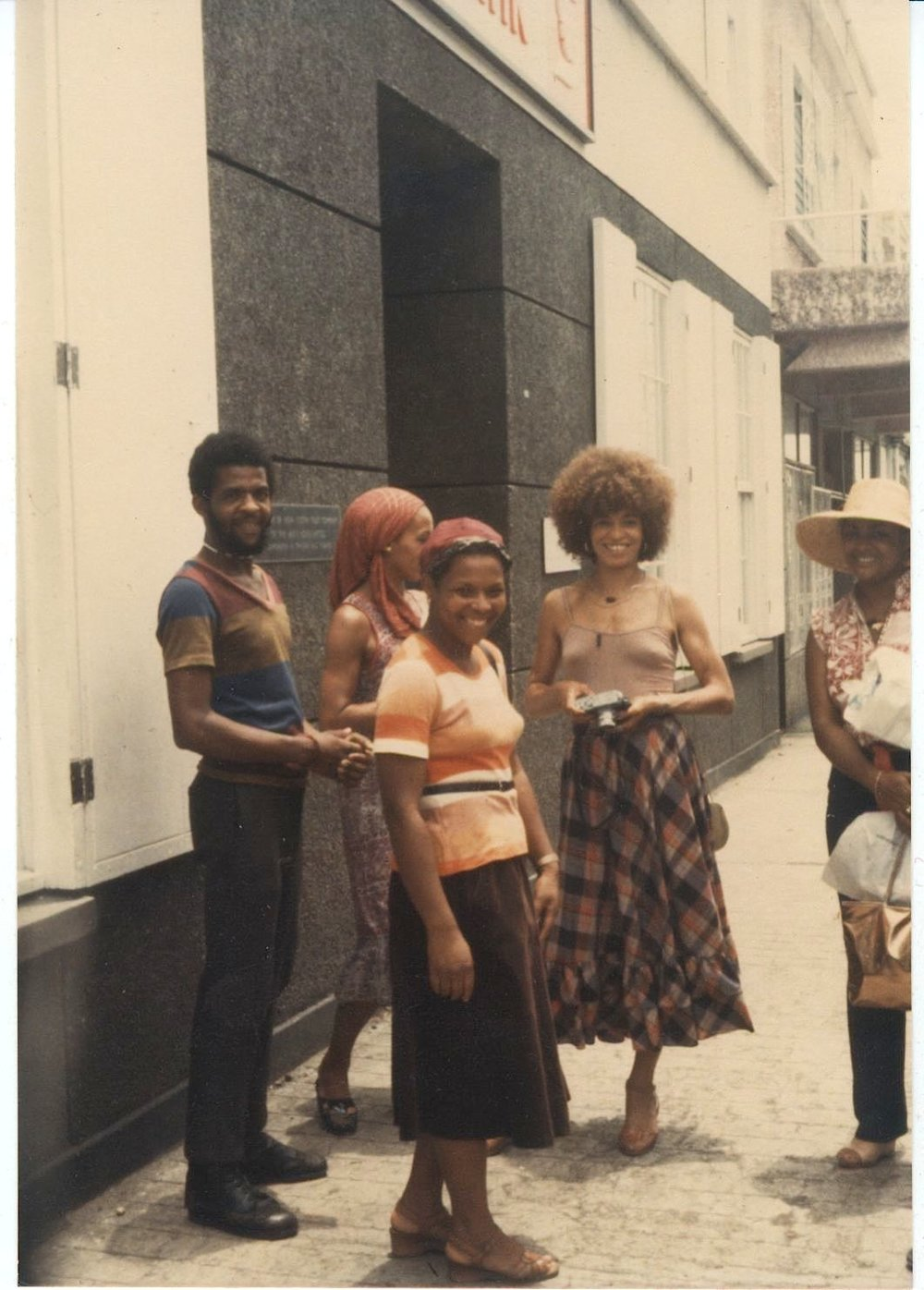 Angela Davis and friends in Grenada, 1982 (Image courtesy Damani Baker)