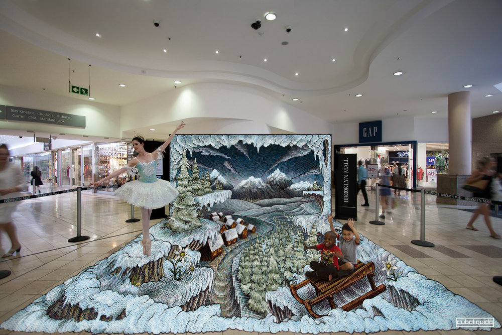 3d Art Installation - Print on Pvc - Pretoria - Brooklin Mall