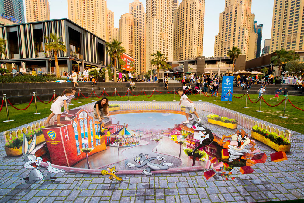 Warner Bros - JBR Dubai Promotion - World Abu Dhabi Theme Park - United Arab Emirates