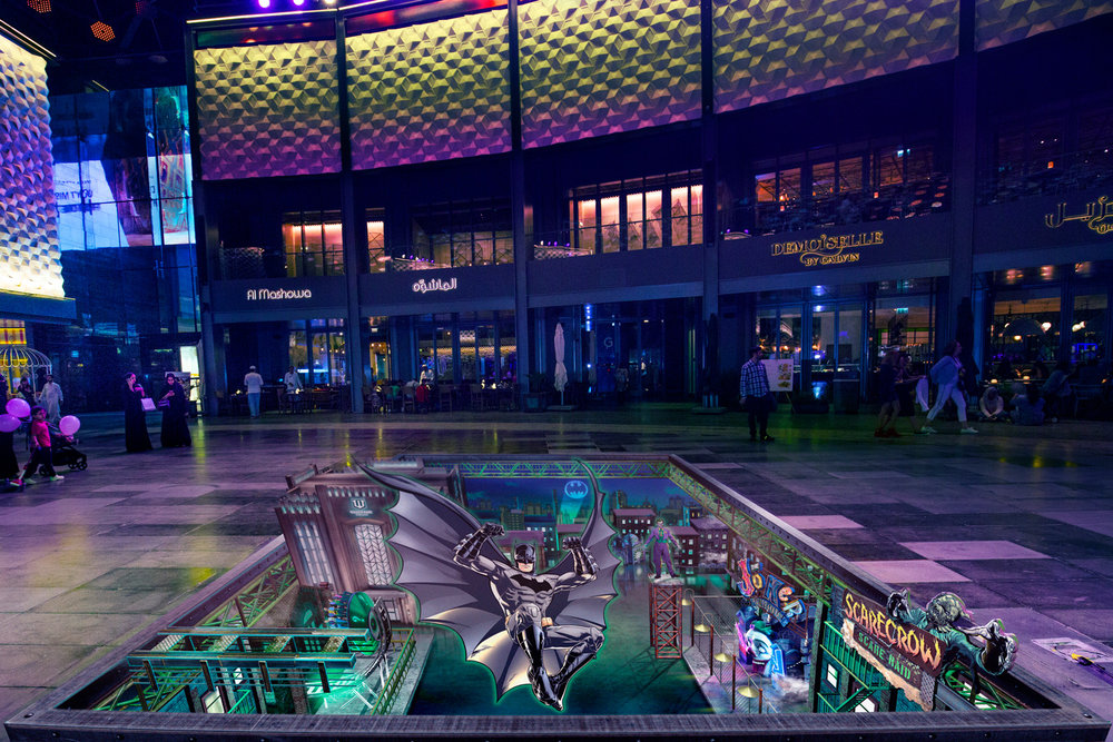 Warner Bros - Gotham - City Walk Dubai Promotion - World Abu Dhabi Theme Park - United Arab Emirates