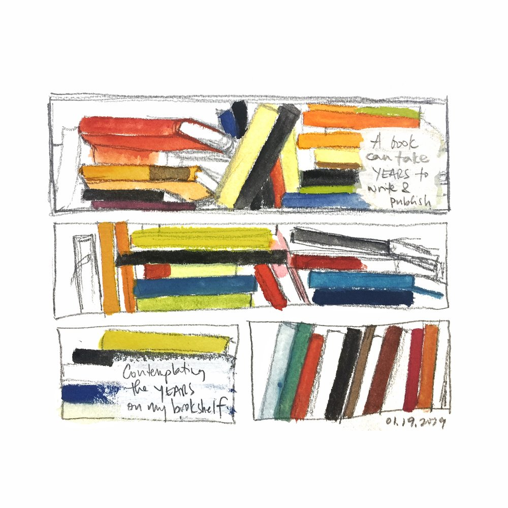 books on my bookshelf