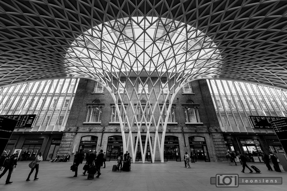 New Kings Cross: Under a modern mushroom.