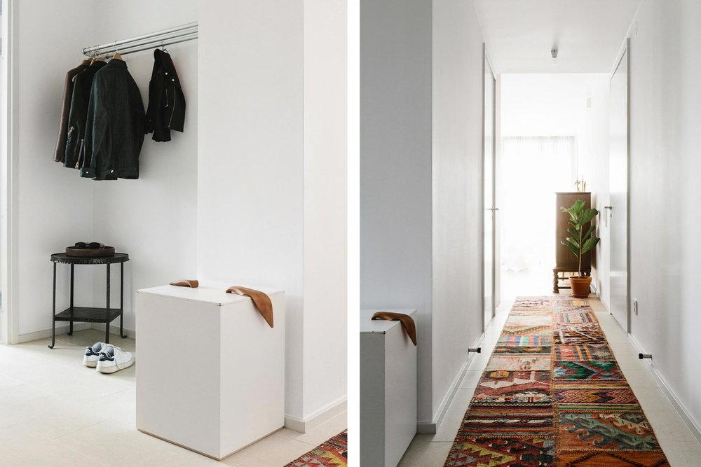 An open hang space works well with clean lines - accessible coat racks are a winner.