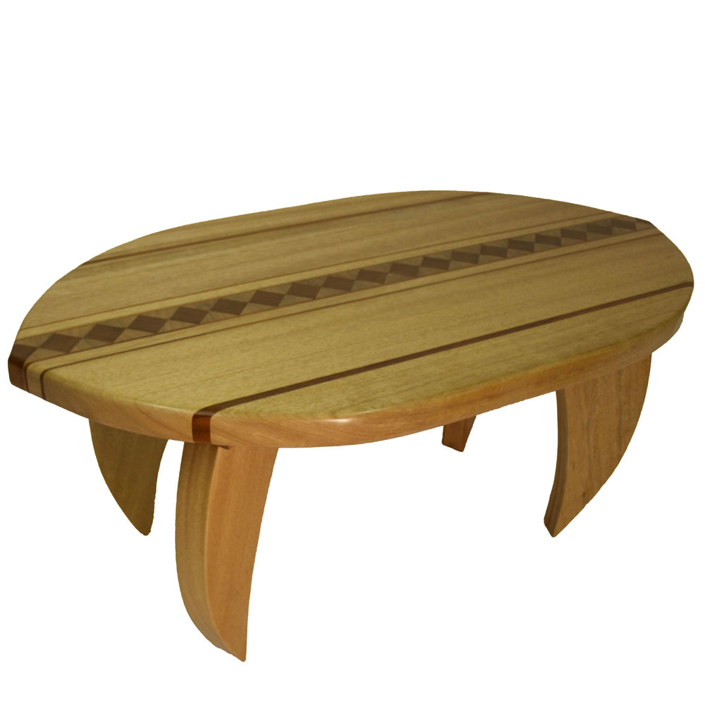 Surfboard coffee table