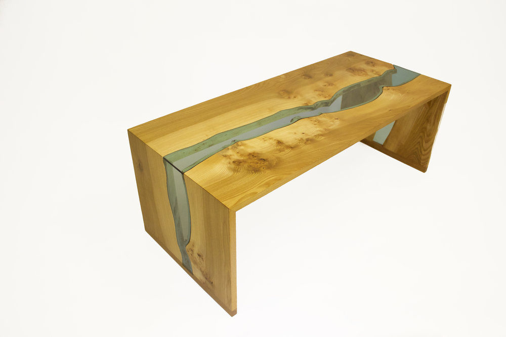 Elm waterfall table