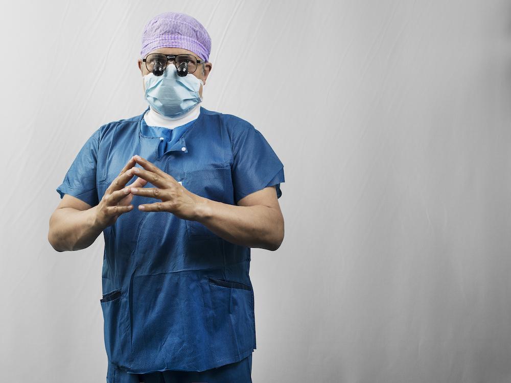 Dr. Aymard in preparation