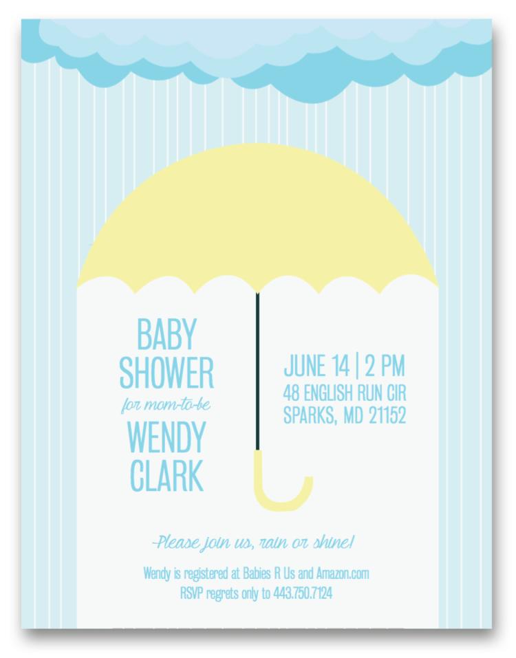 Baby Shower Invitation — Molly Kuhn Designs