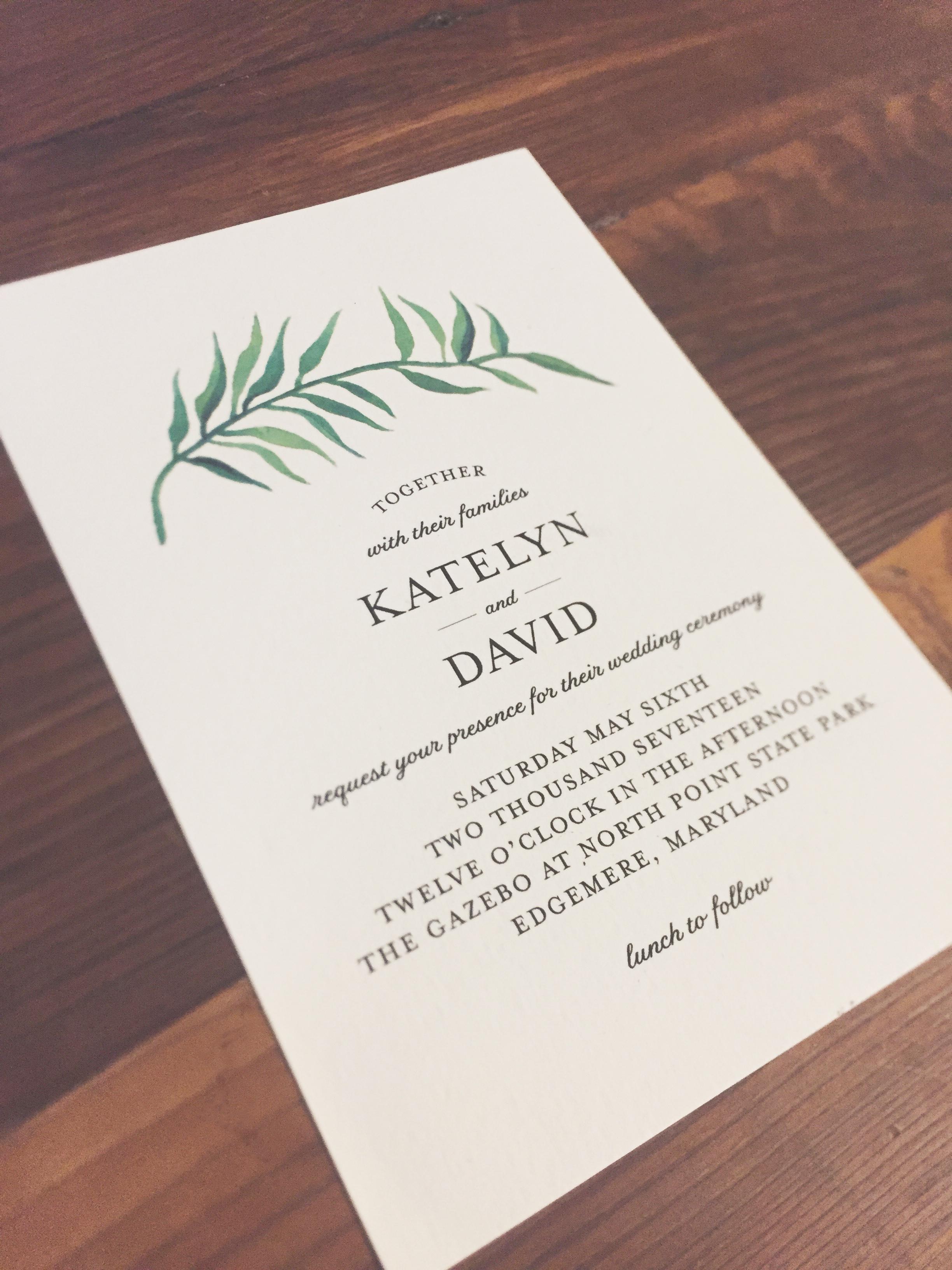 Wedding Invitations — Molly Kuhn Designs