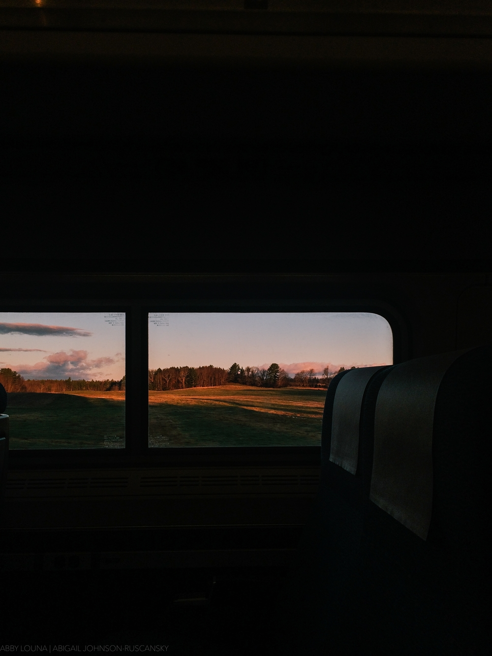 Woke up at 4:30 AM to catch the 6AM train to Boston. It was amazing to watch the sun rise from the train.