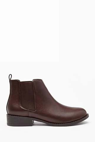 Faux Leather Chelsea Booties $27.90