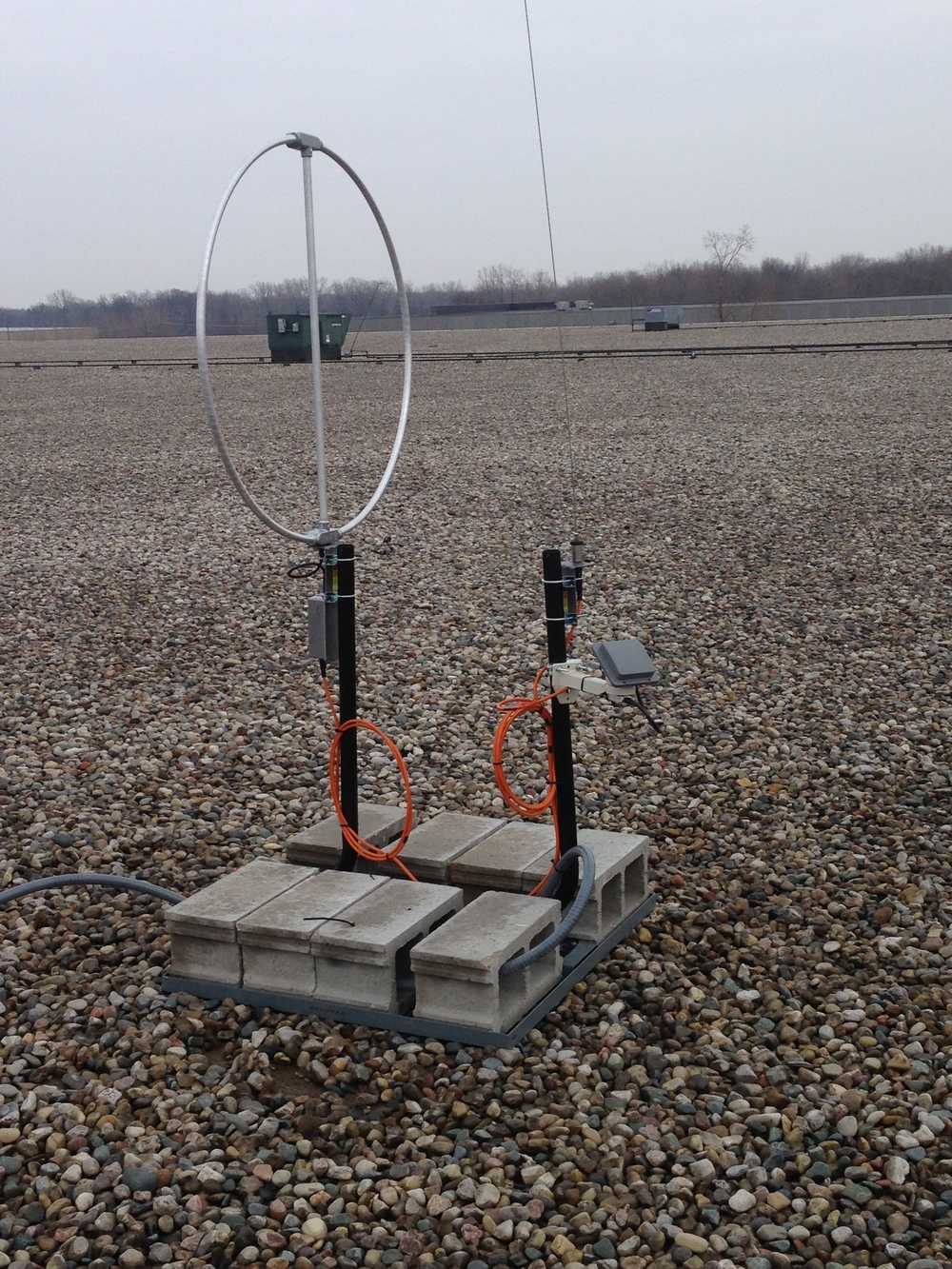 Roof Mounted Antenna Installation