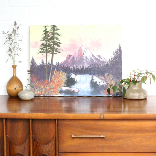 Vintage Mountain Scene Painting — Vintage Home Decor Portland Oregon ...