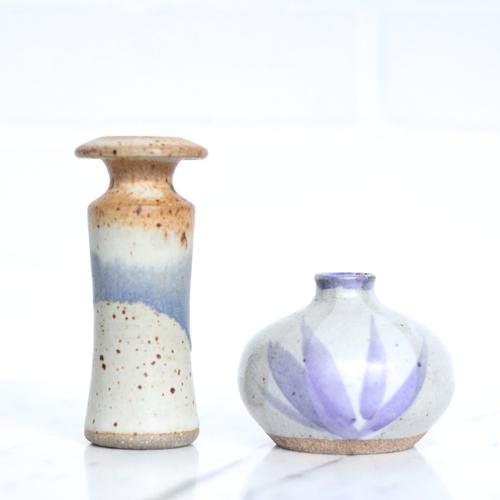 Vintage Studio Pottery Vases Set Of 2 Vintage Home Decor