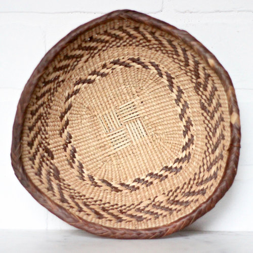 Small Africa Hand Woven Basket — Vintage Home Decor Portland Oregon ...