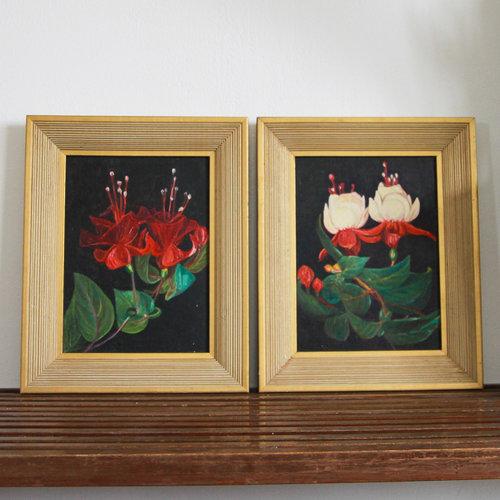 Vintage Floral Paintings (Set of 2) — Vintage Home Decor Portland ...
