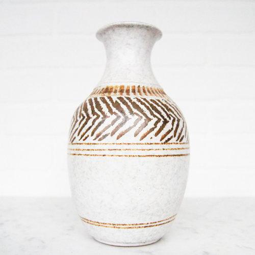 Mid Century Stoneware Vase Vintage Home Decor Portland Oregon