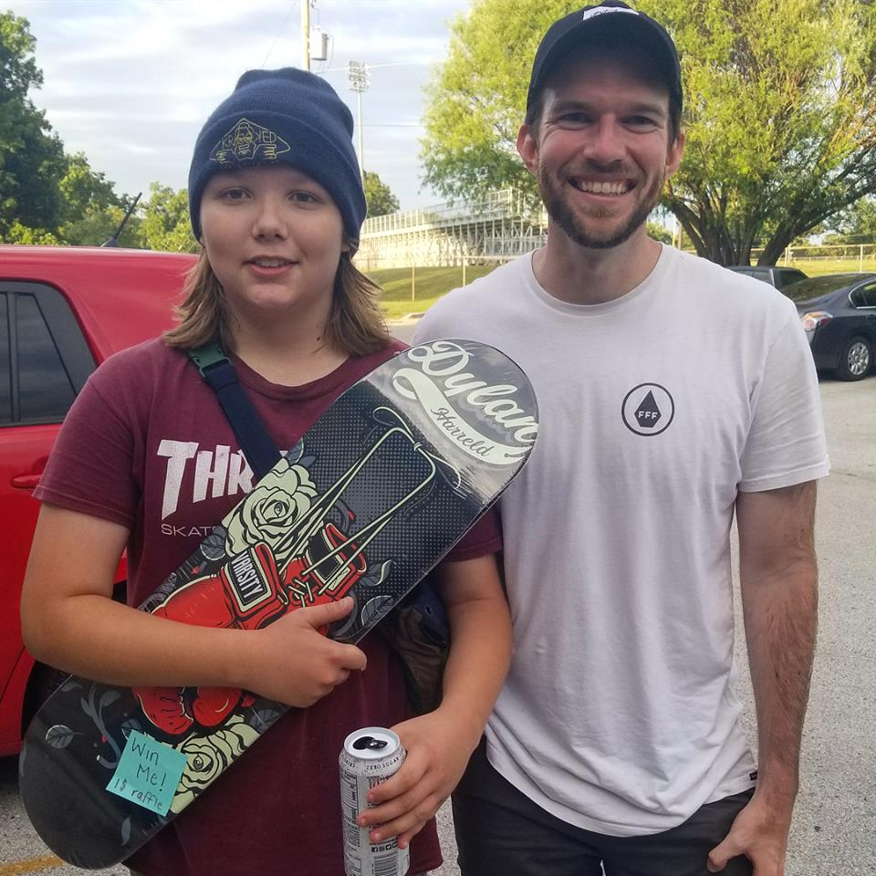 Dom Rushing won a board, for $1.00!