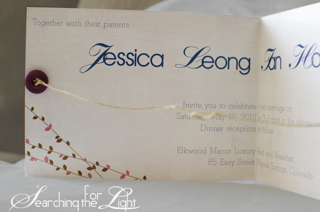 Tie the Knot Wedding Invtation Jessica and Ian's Wedding Stationary | Denver Wedding Invitations | Denver Vintage Wedding Photographer | Colorado Destination Wedding Photographer