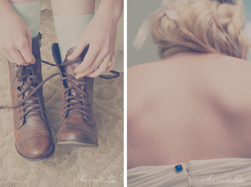 Vintage wedding photography | Denver wedding photorapher | Wedding Ideas | How to creatively include something blue photo