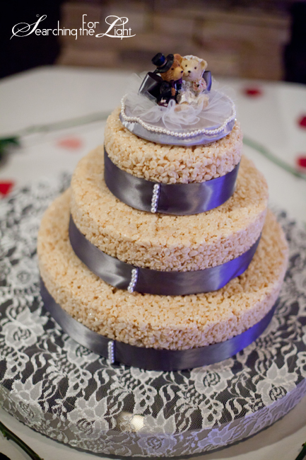 Denver Wedding Photographer on Alternative Wedding Cakes no wedding cake rice crispy wedding cake photo