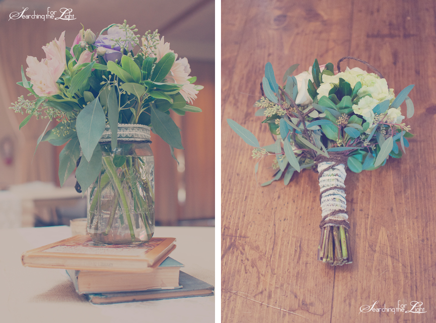 Simple Center Piece Wedding Ideas | Vintage Books & Flowers | Vintage Wedding Photography | Denver Wedding Photographer Photo