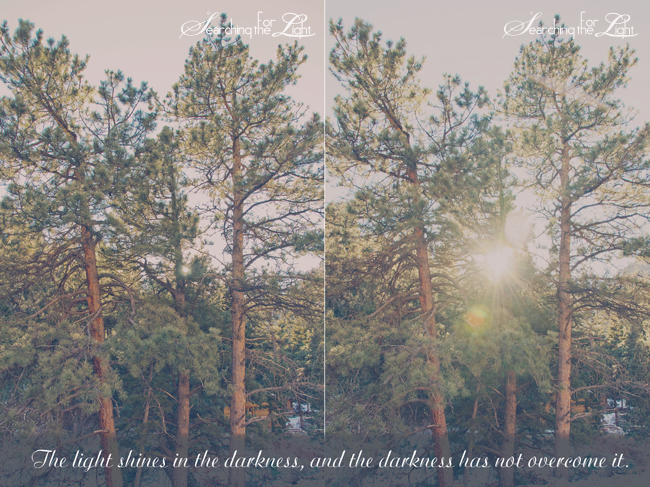 the light shines in the darkness, denver wedding photographer there is hope