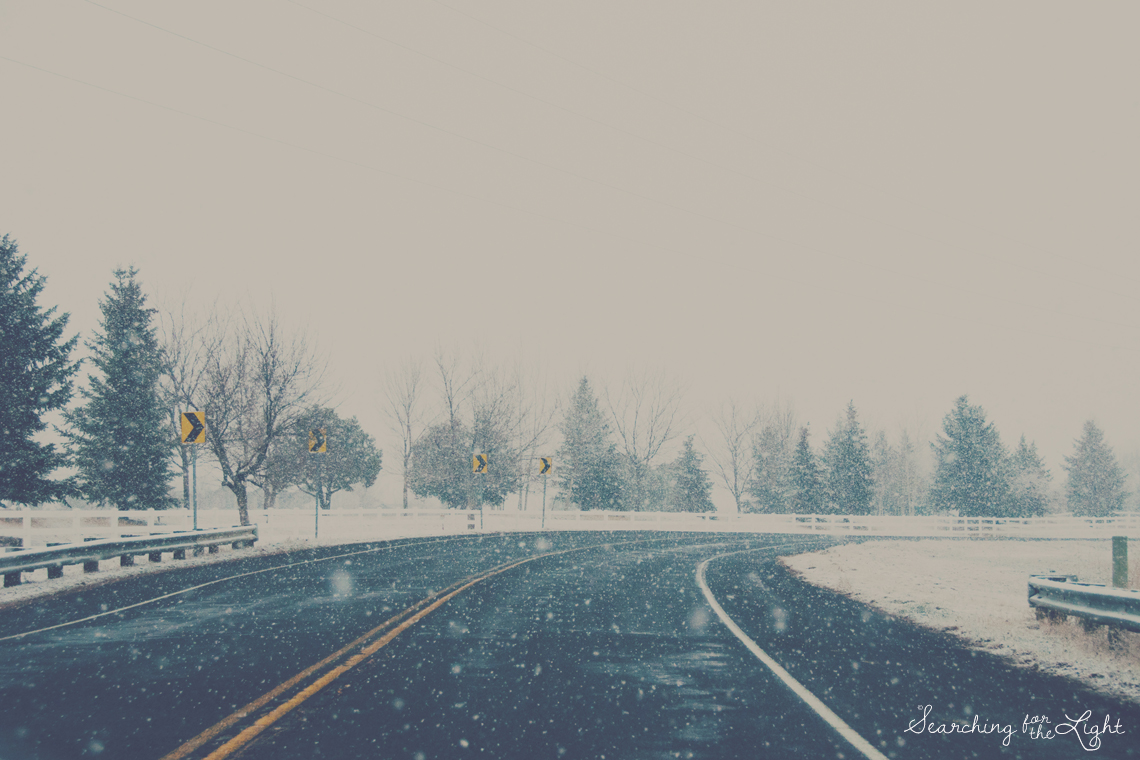 Denver Photographer Talks about her passion for photography | snowy road photo | driving in the snow photo