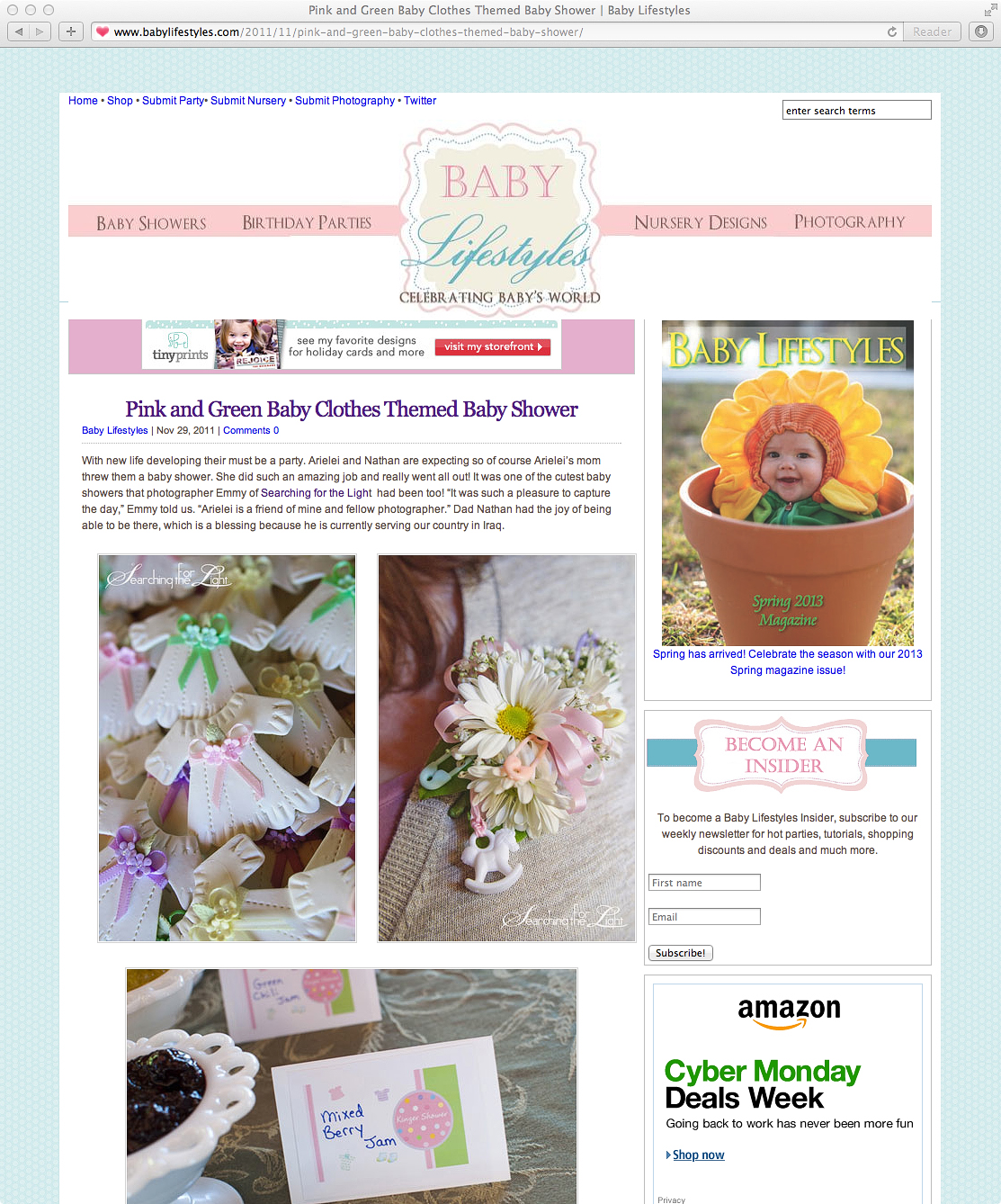 Denver Photographer Published in Baby LifeStyles.com photo