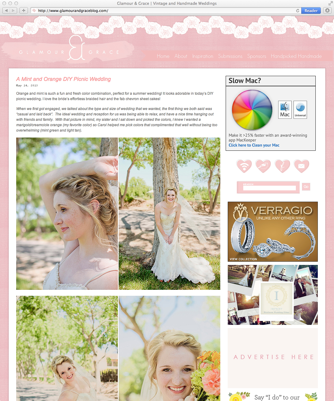 Denver Wedding Photographer | Orange & Mint Wedding Feature Vintage wedding photo mint and orange wedding photo