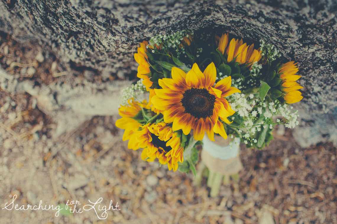 Denver Wedding Photographer Shares Destination Wedding in NM, sunflower wedding bouquet