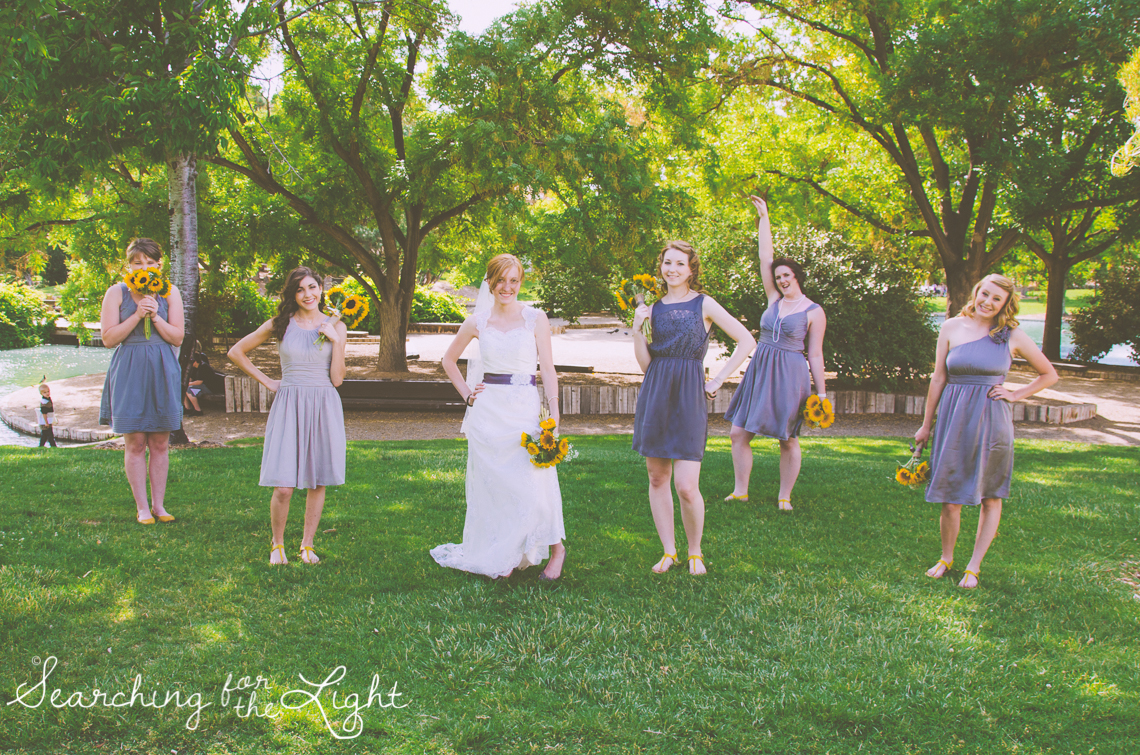 Denver Wedding Photographer Shares Destination Wedding in NM, bridal party creative photo