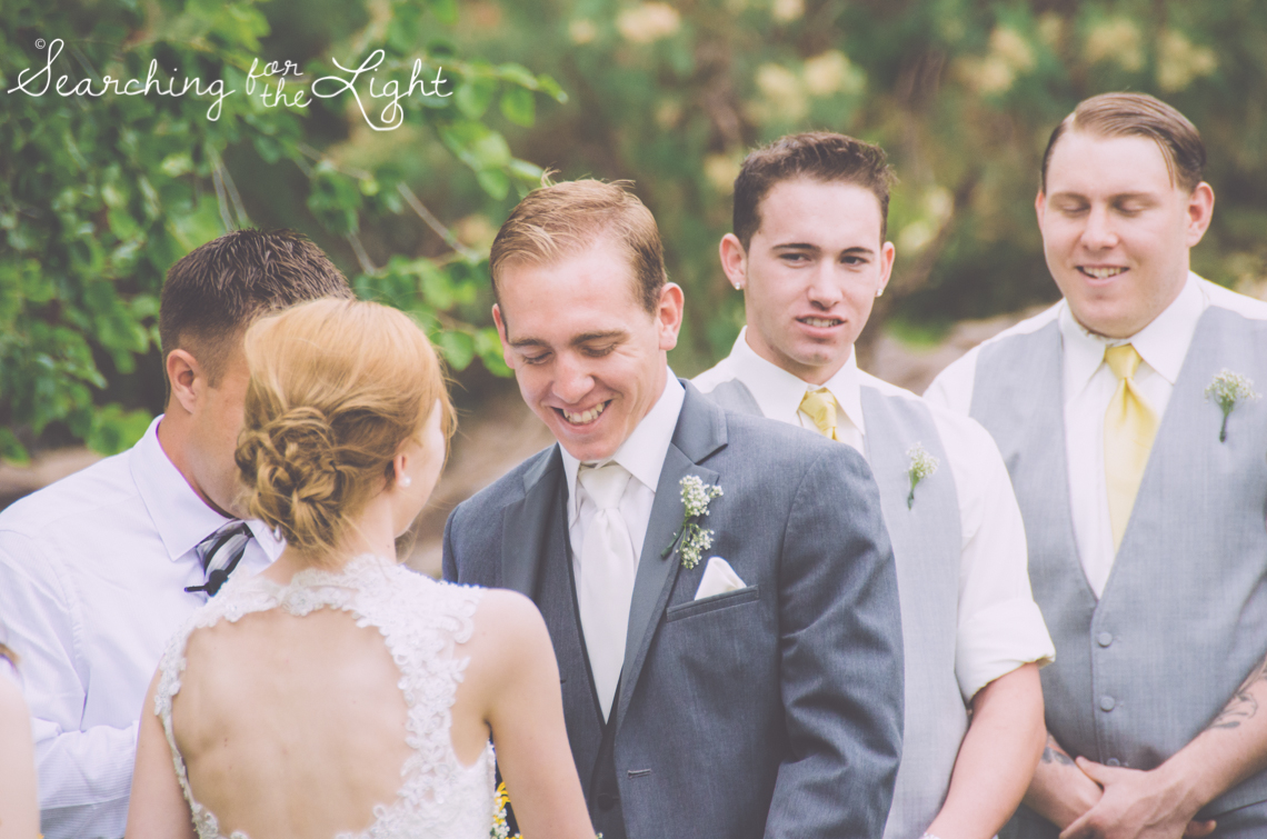 Denver Wedding Photographer Shares Destination Wedding in NM, groom's face during ceremony, wedding ceremony, vintage photographer, film wedding photography