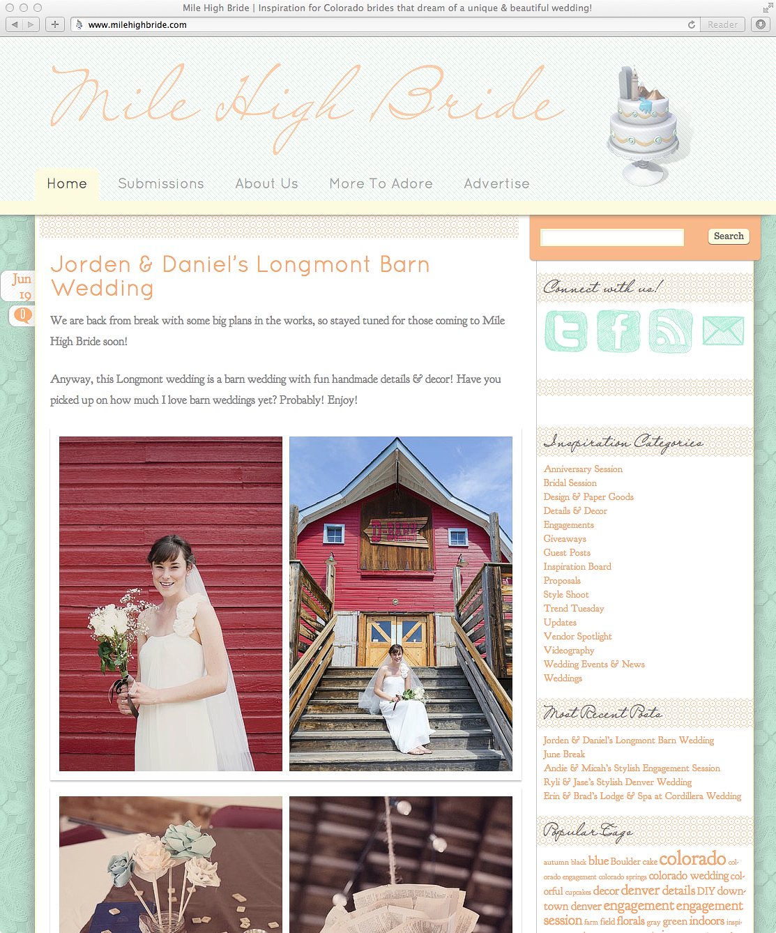 denver wedding phtoographer featured on mile high bride d barn wedding