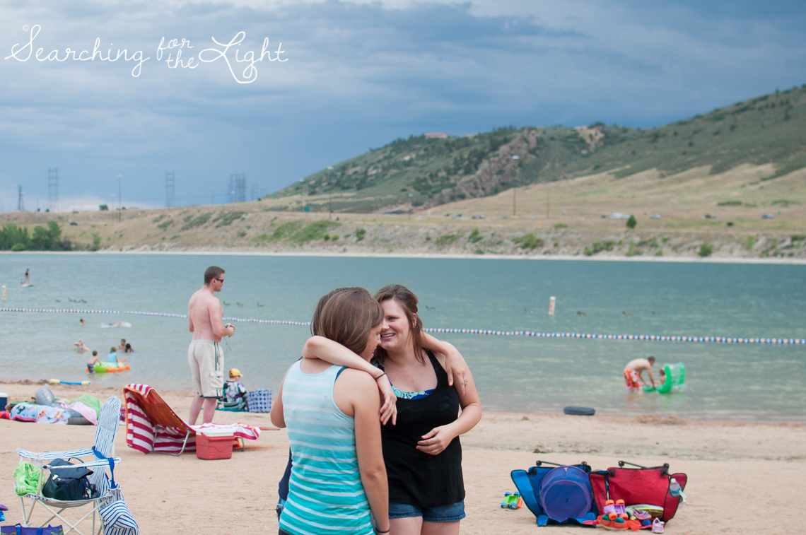 Bear Creek Lake Swimming Beach time from Denver Photographer