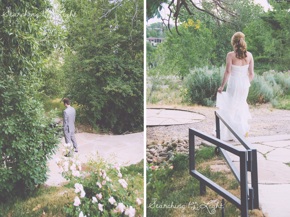 first look, Red Rocks Wedding Photography at Red Rocks Denver Colorado