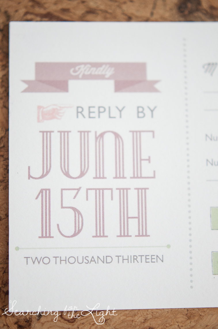 Love Story Wedding Invitaitons by Denver Wedding Photographer
