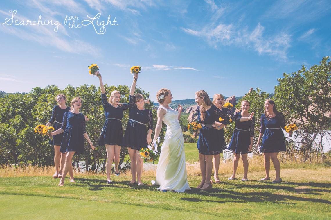 Wedding Party Bridesmaids Arrowhead Golf Course Wedding Photos by Denver Wedding Photographer