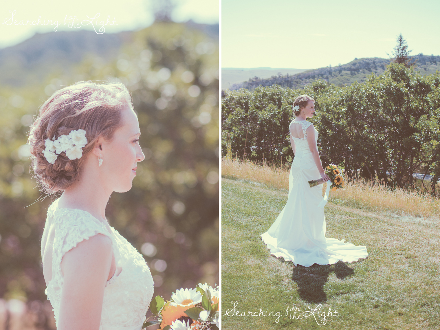 bridal portraits Arrowhead Golf Course Wedding Photos by Denver Wedding Photographer