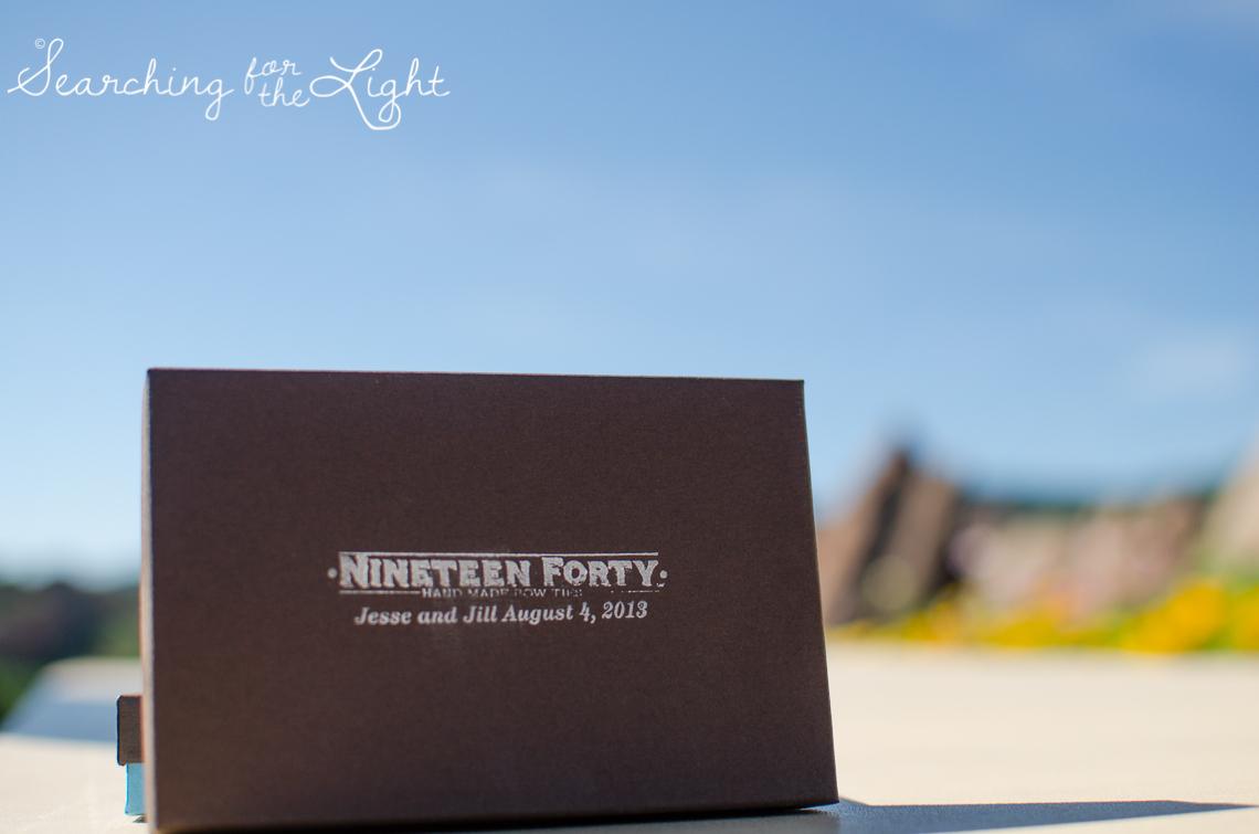 handmade bow tie Arrowhead Golf Course Wedding Photos by Denver Wedding Photographer