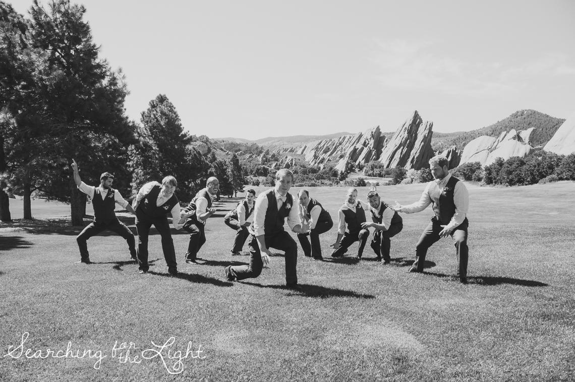 Groomsmen Arrowhead Golf Course Wedding Photos by Denver Wedding Photographer