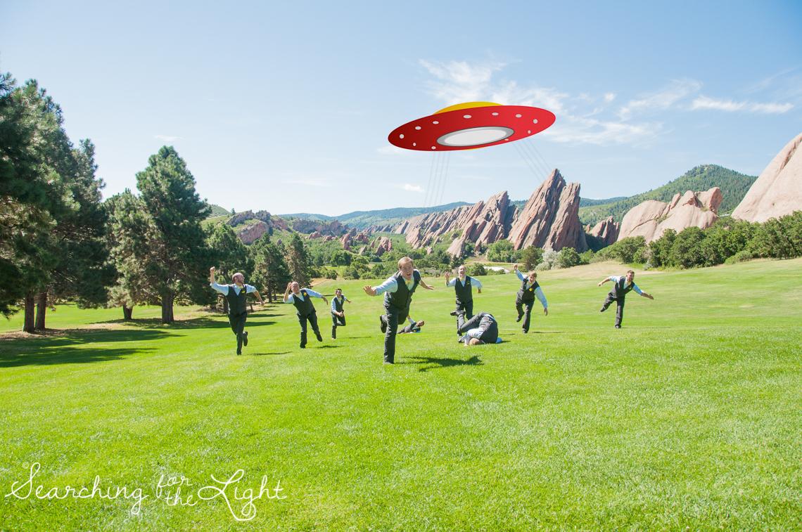 Different Groomsmen photos Arrowhead Golf Course Wedding Photos by Denver Wedding Photographer