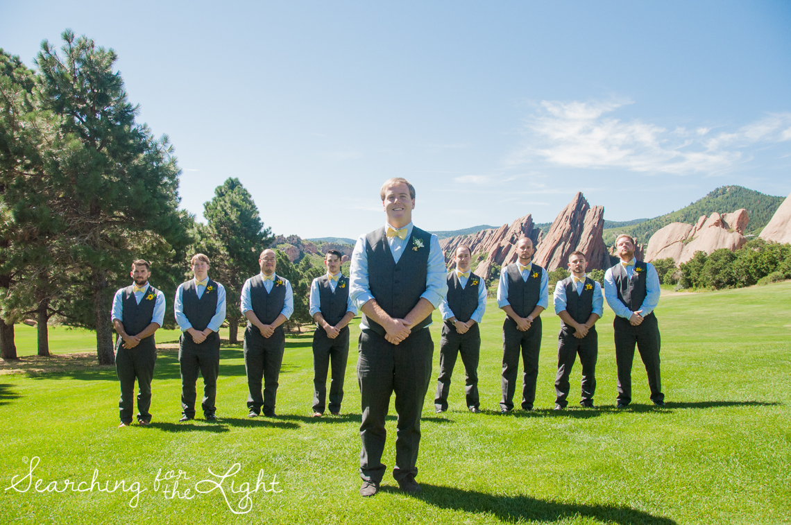 Arrowhead Golf Course Wedding Photos, groosmen by Denver Wedding Photographer