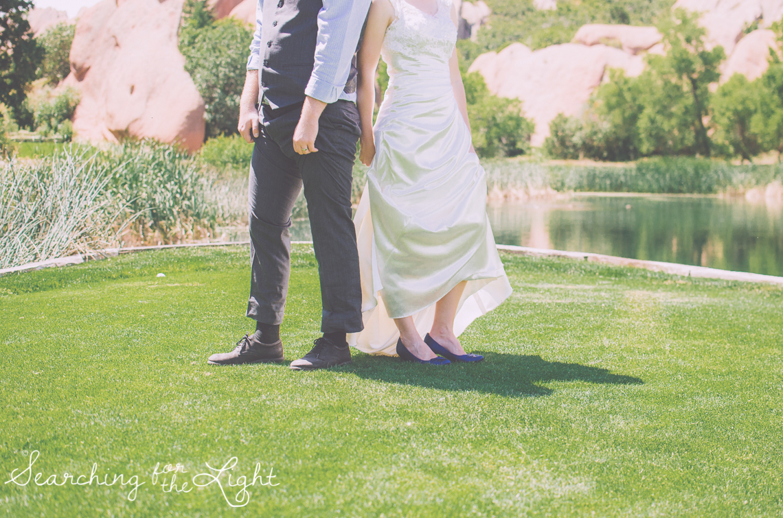 Arrowhead Golf Course Wedding Phots, wedding shoes by Denver Wedding Photographer