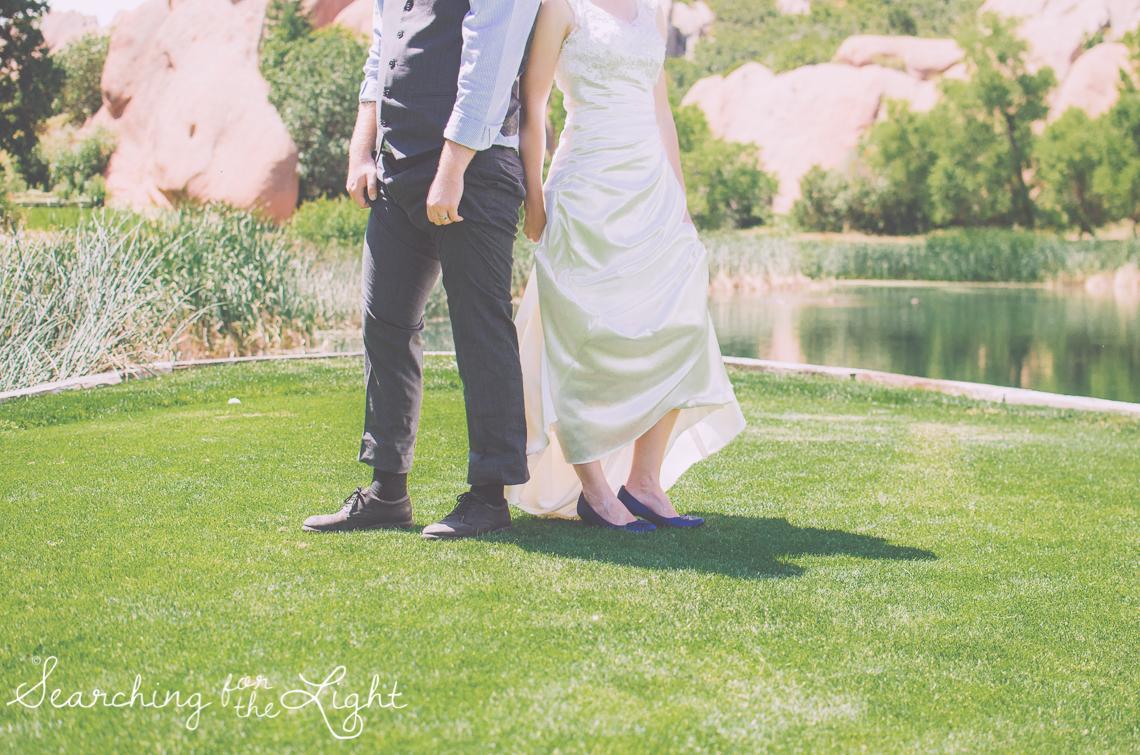 Arrowhead Golf Course Wedding Phots, wedding shoes by Denver Wedding Photographer