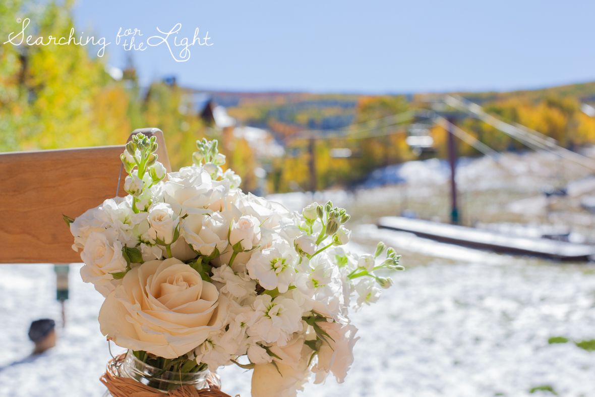 ceremony Fall Wedding photos in Beaver Creek, CO by Denver Wedding Photographer